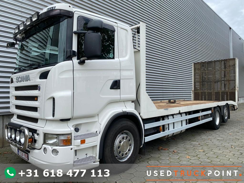 Scania R340 / 6X2 / Winch / Hydraulic Ramps / Machine Transport /  Belgium Truck