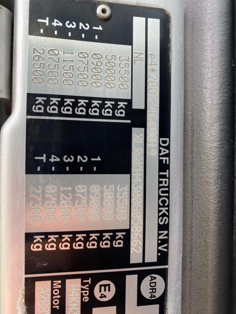 DAF XF 460 SC / 8X2 / Palfinger S260Z96 / 25T Hook / Manual / TUV: 7-2021 / NL Truck