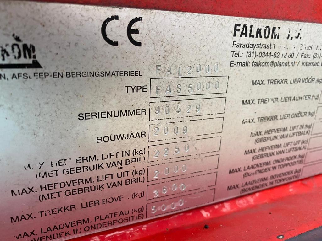 Mercedes-Benz ATEGO 1224 / Falkom / Crane, Krane / Brille / Plateau / Winch / Belgium Truck